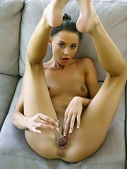 Beautifull pussy filled with dildo
