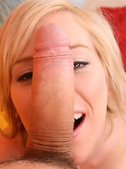 18 year old adorable blonde Naomi Cruise fucking your huge cock and cumshot