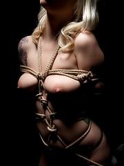 Lynn Bondage In Dark